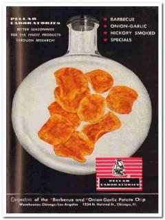 pellar laboratories inc barbecue onion-garlic snack food vintage ad