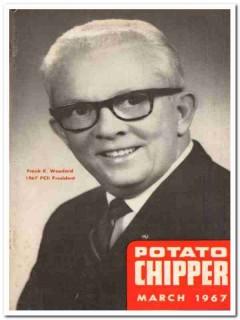 potato chipper 1967 march frank k woodard vintage magazine cover print
