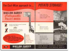 bigelow-garvey lumber company 1967 collapsible pallet boxes vintage ad