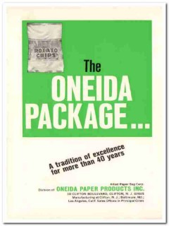 allied paper bag company 1968 potato chip oneida package vintage ad