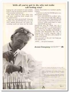 ames company 1968 miles laboratories quantab salt test food vintage ad