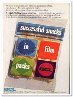 british cellophane ltd 1968 bcl snack food film packaging vintage ad