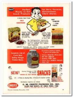 c m creitz packing company 1967 ready-to-eat bar-stix food vintage ad