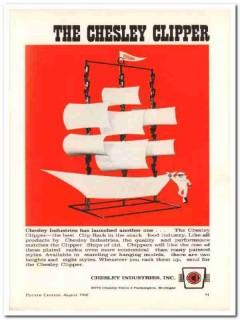 chesley industries inc 1968 clipper display rack snack food vintage ad