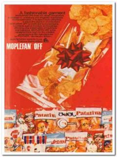 montecatini edison 1968 moplefan-off snack food wrap bags vintage ad