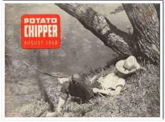 potato chipper 1968 august girl fishing vintage print magazine cover