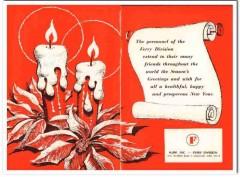 hupp inc 1968 ferry division new year season greetings food vintage ad