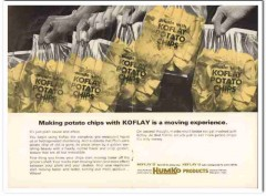humko products inc 1968 koflay oil shortening snack food vintage ad