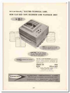Mandrel Industries Inc 1958 Vintage Ad Oil Electro-Technical Labs DS-7