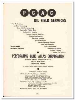 Perforating Guns Atlas Corp 1958 Vintage Ad Oil Field Services PGAC