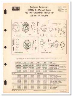 rochester carburetors 1953-60 chevrolet model b service vintage manual