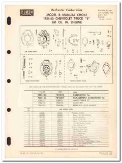 rochester carburetors 1954-60 chevrolet truck model b vintage manual