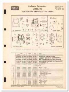 rochester carburetors 1958-60 chevrolet truck model 2g vintage manual
