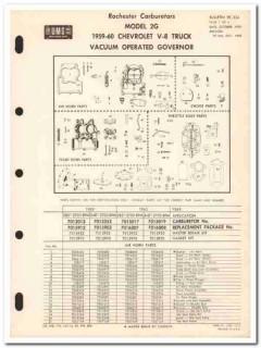 rochester carburetors 1959-60 chevrolet v-8 truck 2g vintage manual