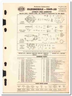 rochester carburetors 1949-50 oldsmobile auto choke vintage manual