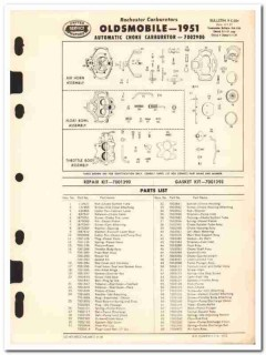 rochester carburetors 1951 oldsmobile automatic choke vintage manual