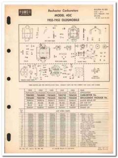 rochester carburetors 1952-1953 oldsmobile model 4gc vintage manual