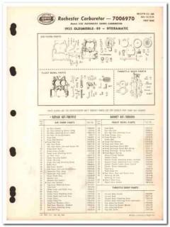 rochester carburetors 1955 oldsmobile 88 2gc hydramatic vintage manual