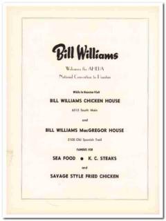 bill williams chicken house restaurant 1953 macgregor food vintage ad