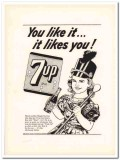 seven-up company 1953 like it dimpled darling 7up soda pop vintage ad