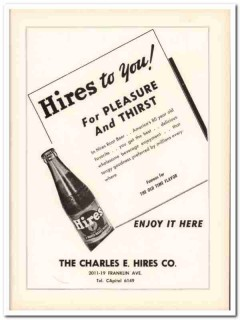 charles e hires company 1953 pleasure thirst root beer soda vintage ad