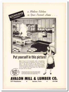 avalon mill lumber company 1953 kitchen maid modern home vintage ad