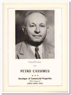 petro cassimus 1953 commercial properties corpus christi tx vintage ad
