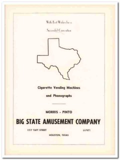 big state amusement company 1953 cigarette machines houston vintage ad