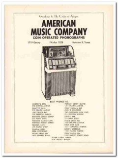 american music company 1953 coin operated phonographs vintage ad