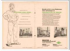 Procon Inc 1954 Vintage Ad R J Oil Refining Platformer Construction