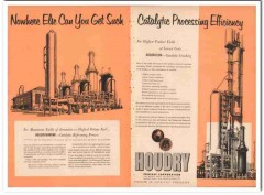 Houdry Process Corp 1954 Vintage Ad Oil Houdriflow Catalytic Cracking