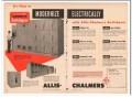 allis-chalmers 1954 modernize electrically switchgear power vintage ad