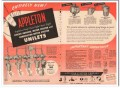 appleton electric company 1954 explosion-proof unilets vintage ad