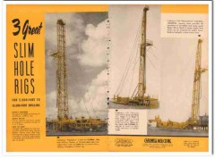 Cardwell Mfg Company 1954 Vintage Ad Oil Drilling Slim Hole Rigs