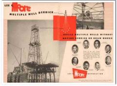 Lee C Moore Corp 1954 Vintage Ad Oil Field Multiple Well Derrick Rig