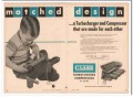Clark Brothers Company 1954 Vintage Ad Turbocharger Matched Design