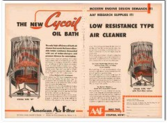 American Air Filter Company 1954 Vintage Ad Cycoil Oil Bath Cleaner