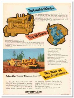 caterpillar tractor company 1954 D8 boss crawler production vintage ad