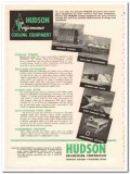 Hudson Engineering Corp 1954 Vintage Ad Oil Combin-Aire Units Cooling