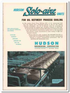 Hudson Engineering Corp 1954 Vintage Ad Oil Solo-Aire Process Cooling