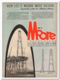 Lee C Moore Corp 1957 Vintage Ad Oil Offshore Drilling Mast Design