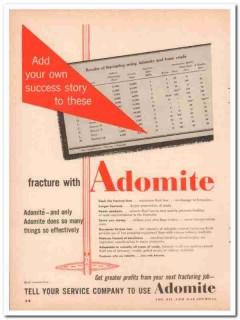 Continental Oil Company 1957 Vintage Ad Petroleum Adomite Fracture
