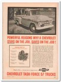 chevrolet 1957 powerful reasons compact v8 chevy truck vintage ad