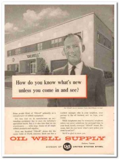 United States Steel 1957 Vintage Ad Oilwell Don OBryan Oil Well Supply