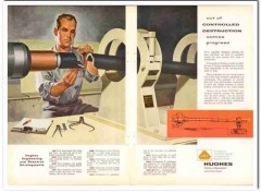 Hughes Tool Company 1957 Vintage Ad Oil Field Controlled Destruction