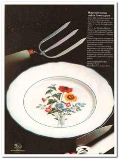 hutschenreuther 1976 meadowbrook porcelain dinnerware vintage ad