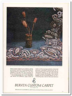 berven carpet california corp 1976 far east hand-made rugs vintage ad