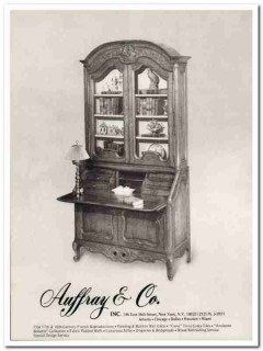 auffray company 1976 french reproduction antique furniture vintage ad