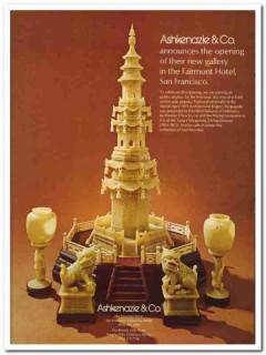 ashkenazie company 1976 fairmont hotel new gallery jade vintage ad