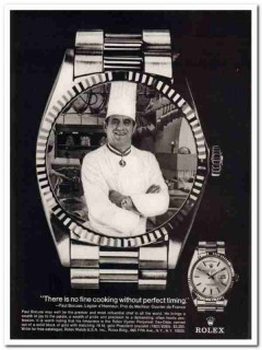 rolex watch usa inc 1976 paul bocuse chef oyster perpetual vintage ad